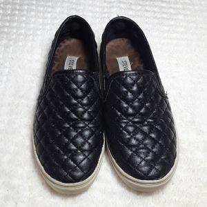 Steve Madden Leather Slip-On Shoes w/ Memory Foam